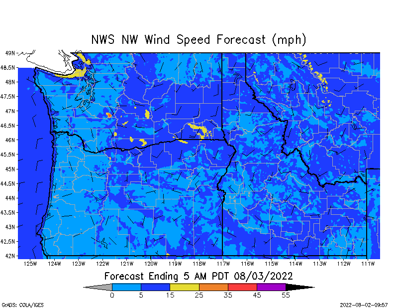 NW Wind Speed