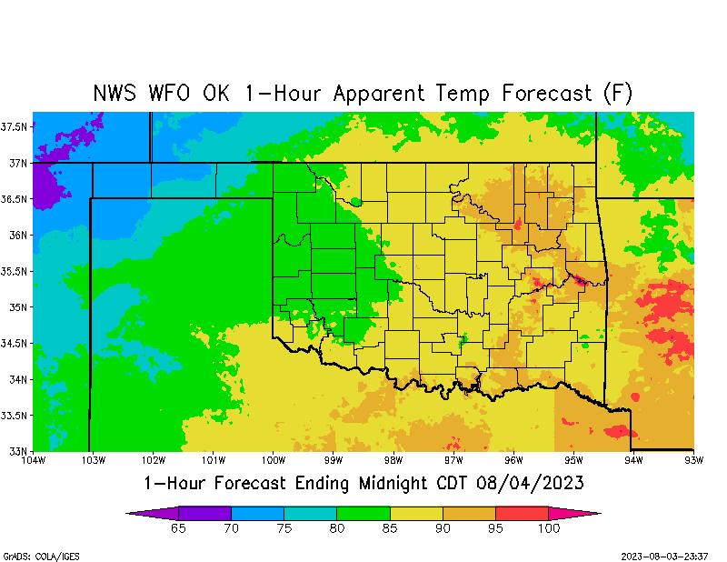 Oklahoma app temp nws apparent temperature forecast gumiabroncs Gallery